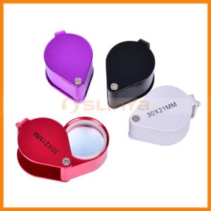 Metal Cover Reading Magnifier Custom Magnifying Glass Adjustable Lens Eyeglasses pictures & photos