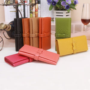 Lady Python Leather Clutch Wallet Fashion Purse Designer Long Wallet pictures & photos