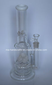Hot Selling Milky White Handblown Glass Smoking Water Pipes with Swirl Perc pictures & photos