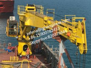 Ship Deck Crane 4t30m Telescopic Boom Crane pictures & photos