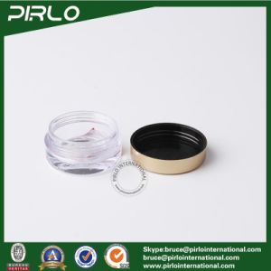5g 5ml Thickness Wall Clear Plastic Cosmetic Jar with Golden Lid Mini Eye Cream Plastic Jar Pot pictures & photos