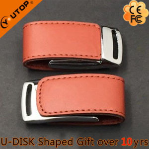New Gift Hasp Folding Leather Metal USB Flash Drive (YT-5116-01) pictures & photos