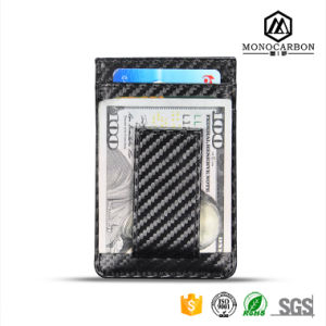 Waterproof Carbon Fiber RFID Card Holder Coin Money Clip pictures & photos