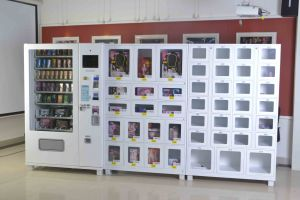 Nail Art Supplies Advertisement Screen 10 Columns Vending Machine pictures & photos