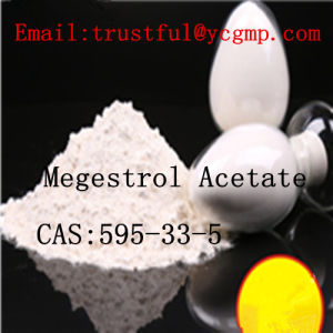 High Quality Megestrol Acetate CAS: 595-33-5 Estrogen for Breast Cancer pictures & photos