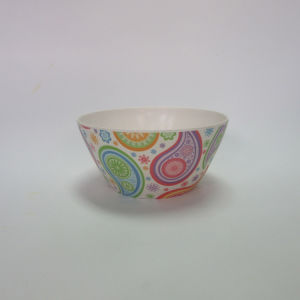 Bamboo Fiber Small Bowl Salad Bowl Soup Bowl Paisley Design Tableware pictures & photos