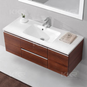 2017 Corian Solid Surface Artificial Bathroom Cabinet Basin pictures & photos