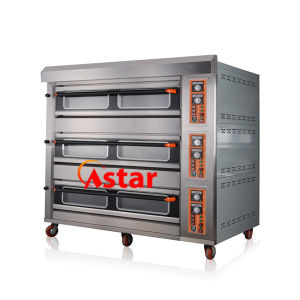 Customized 3 Deck 9 Trays Commercial Gas Oven Cookie Baking Machine Bread Maker pictures & photos