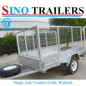 Sino Galvanizing Single Axle Box Cage Furniture Trailer pictures & photos
