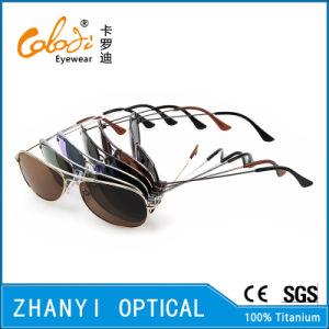 Latest Design Titanium Sunglass for Driving with Polaroid Lense (T3025-C3) pictures & photos