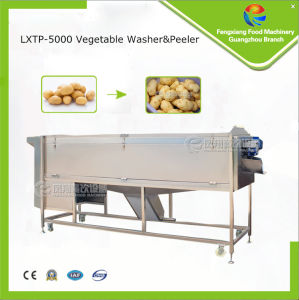 Lxtp-5000 Large Type Potato, Carrot Washing and Peeling Machine, Vegetacle and Fruit Washer, Peeler pictures & photos