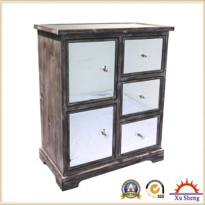 French Style Antique Wooden Mirror Storage Cabinet in Drift Wood Color pictures & photos