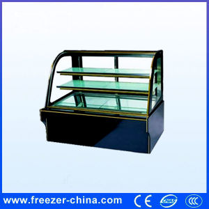 Black Marble Bakery Dessert Display Chiller with Arc Glass pictures & photos