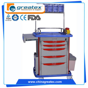 Contemporary Promotional ABS Emergency Infusion Trolley pictures & photos