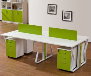4 Seats Straight Desk Workstation Cluster Staff Office Partition (HX-NCD178) pictures & photos
