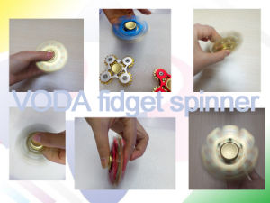 Two Leaf Aluminum Hands Spinner pictures & photos