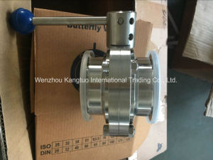 Manual Sanitary Butterfly Valve Clamped End pictures & photos