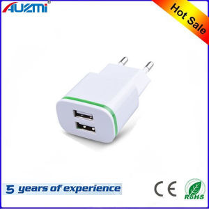 Universal EU/Us Dual USB Travel Charger for Mobile Phone pictures & photos