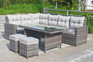 Wicker Rattan Kansas Outdoor Patio Furniture Lounge Set Garden (J545) pictures & photos