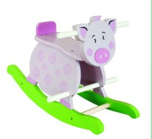 Wooden Baby Chair Pig Rocker for Kids and Children pictures & photos