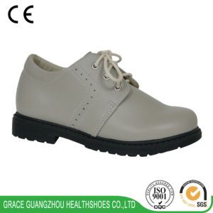 Grace Health Shoes Kids Ortho Shoes Beige School Shoes pictures & photos
