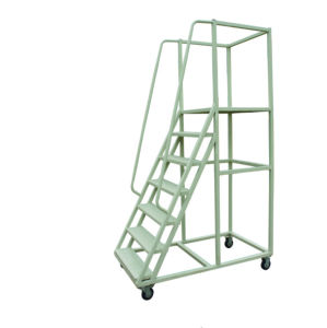 Steel Warehouse Rolling Step Ladder Manufacturer pictures & photos