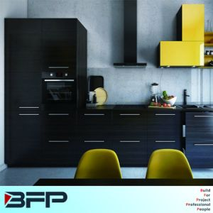 Mini Kitchen Wood Grain Laminate Kitchen Cabinets pictures & photos