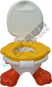 Plastic Baby Potty with Lid Colorful Baby Potty