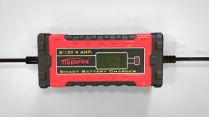 6V/12V 4A Smart Battery Charger with LCD Display pictures & photos