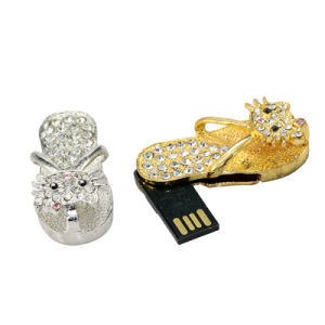 Kitty Necklace Sandal 2GB USB Flash Disk Pendrive Luxury Jewelry pictures & photos