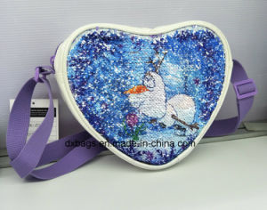 Wholesales Sequins Heart Bag, Kids Cross-Body Bag with Sequince pictures & photos