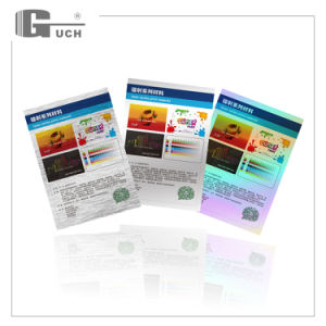 Silver Bright with Flourescent/Holographic Effect Inkjet Printing Sheet for card pictures & photos