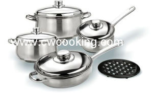 9PCS Stainless Steel Cookware Set with Ss Lid pictures & photos
