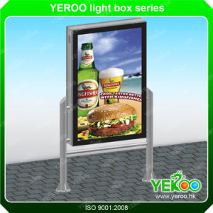 Outdoor Advertising Double-Sides Scrolling Light Box with Tempered Glass pictures & photos