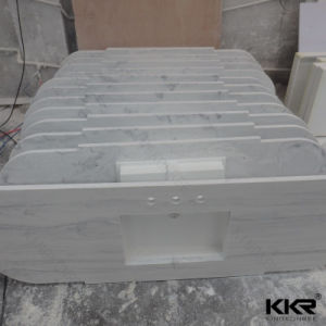 Marble Textured Artificial Quartz Vanity Top for Bathroom pictures & photos