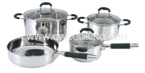 7PCS Stainless Steel Cookware Set with Silicone Handle pictures & photos