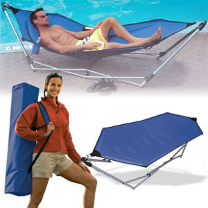 Portable Metal Folding Swing Hammock pictures & photos