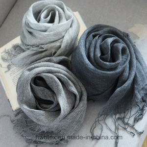 BSCI Top Quality Plain Dyed Linen Stole / Unisex Scarf (HWBL01) pictures & photos