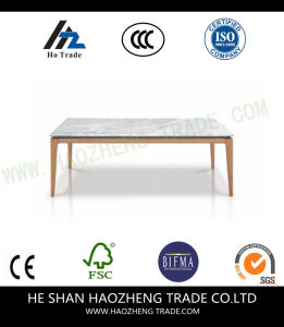 Hzct135 Marble Mesa Wood Frame Hot Selling Coffee Table pictures & photos