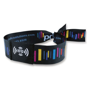 Customized Event Festival Woven Fabric Polyester Wristband pictures & photos