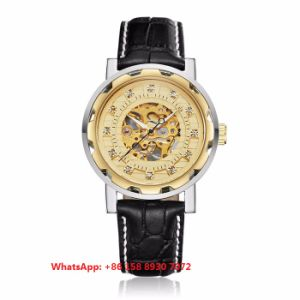 Handsome Automatic Men′s Watches with Genuine Leather Strap Fs682 pictures & photos