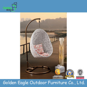 Patio Outdoor Furniture Rattan Swing with Soft Cushion