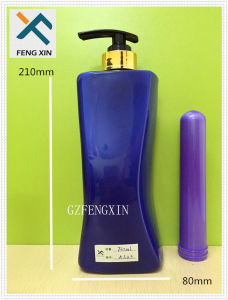 Plastic Products Manufacturer 750ml Pet Plastic Container Shampoo Bottle with Lotion Pump pictures & photos
