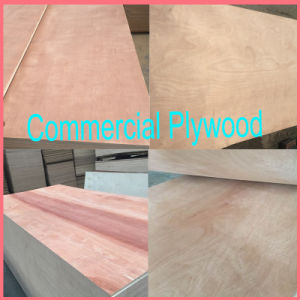 Commercial Plywoood Hardwood Core Furniture/Decoration Plywood BB/CC Grade pictures & photos