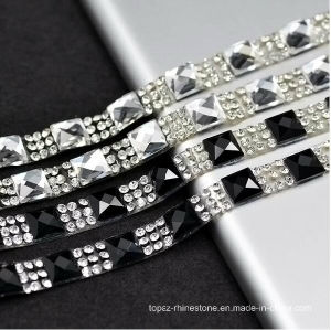 Clear with Silver Crystal 1.5cm Width Fancy Bridal Dress Belt Trim Wedding Cake Banding Rhinestone Wedding Banding (TS-048) pictures & photos