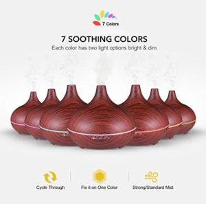 300ml Ultrasonic Cool Mist with 7 Colorful Lights Auto-Shut off Fragrant Essential Oil Diffuser pictures & photos