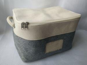 Linenette + Canvas Storage Basket with Zipper (EVA inside) pictures & photos