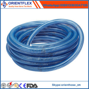 Yellow/Blue/Red/Green Flexible PVC Spiral Pump Water Suction Hose pictures & photos
