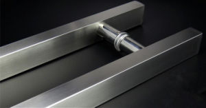 Brushed Stainless Steel Square Straight H Glass Pull Handle pictures & photos