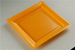 Shape 3 Easylife Various Disposable PS Plastic Square Plate pictures & photos
